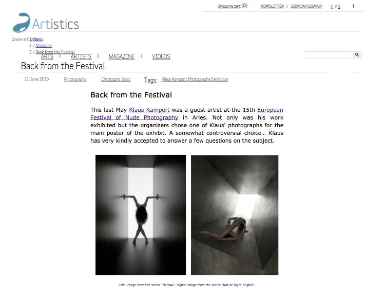 Back from the Festival | The Artistics Magazine